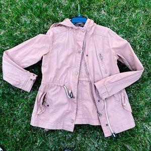 Nice beige grunge army jacket zipup sweater